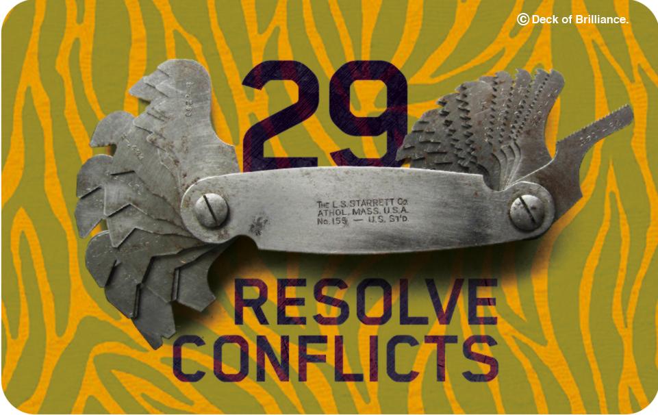 29. RÉSOLVEZ LES CONFLITS